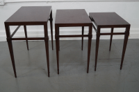 Tommi Parzinger Mahogany Nesting Tables - Set of 3 | Chairish
