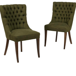 Accent Chairs Under 150 Hire Of Chair Covers For Weddings Vintage Used Sale Chairish 1960 S John Stuart Tufted High Back A Pair
