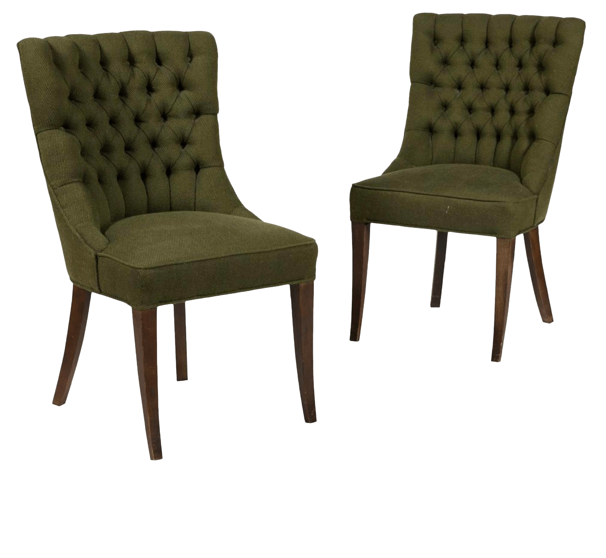 unique accent chairs twin bed sleeper chair vintage used for sale chairish 1960 s john stuart tufted high back a pair