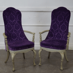 Purple Upholstered Dining Chairs Early Learning Table And Vintage 1950s Set Of 6 Chairish Hollywood Regency Paint Frame Age Country