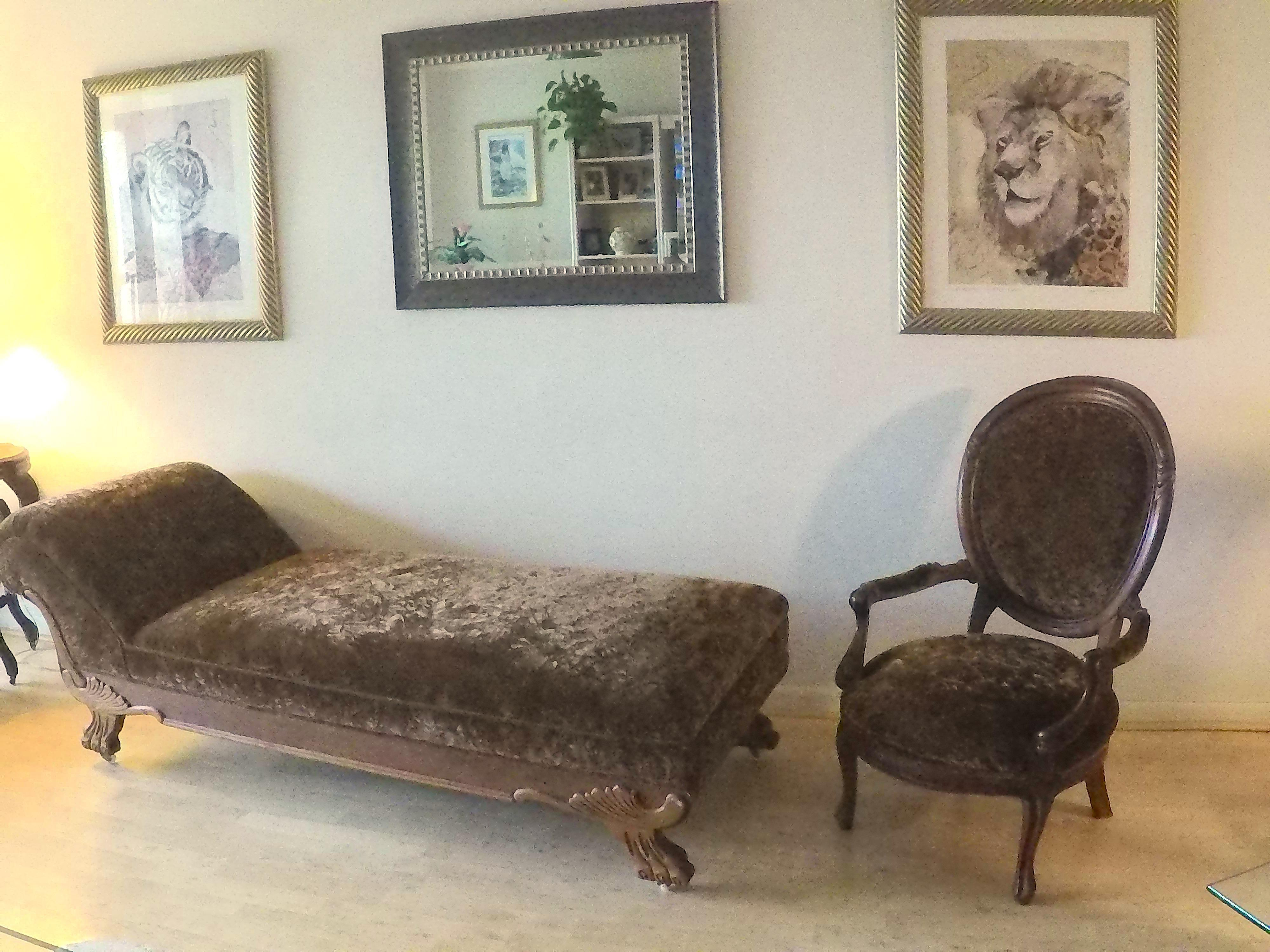 brown slipper chair zeth crimson twin 1 2 sleeper crushed velvet chaise lounge chairish for sale