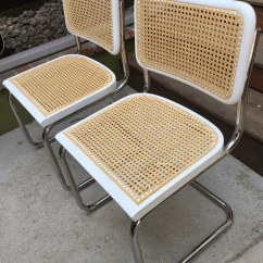 Marcel Breuer Cesca Chair With Armrests Dining Chairs Arms Upholstered Pair Of Chairish 2 Custom Made In Exact Style Iconic 1928 White