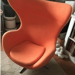 Orange Egg Chair Folding Lawn Chairs At Lowes Arne Jacobsen Syle Chairish For Sale Image 4 Of 11