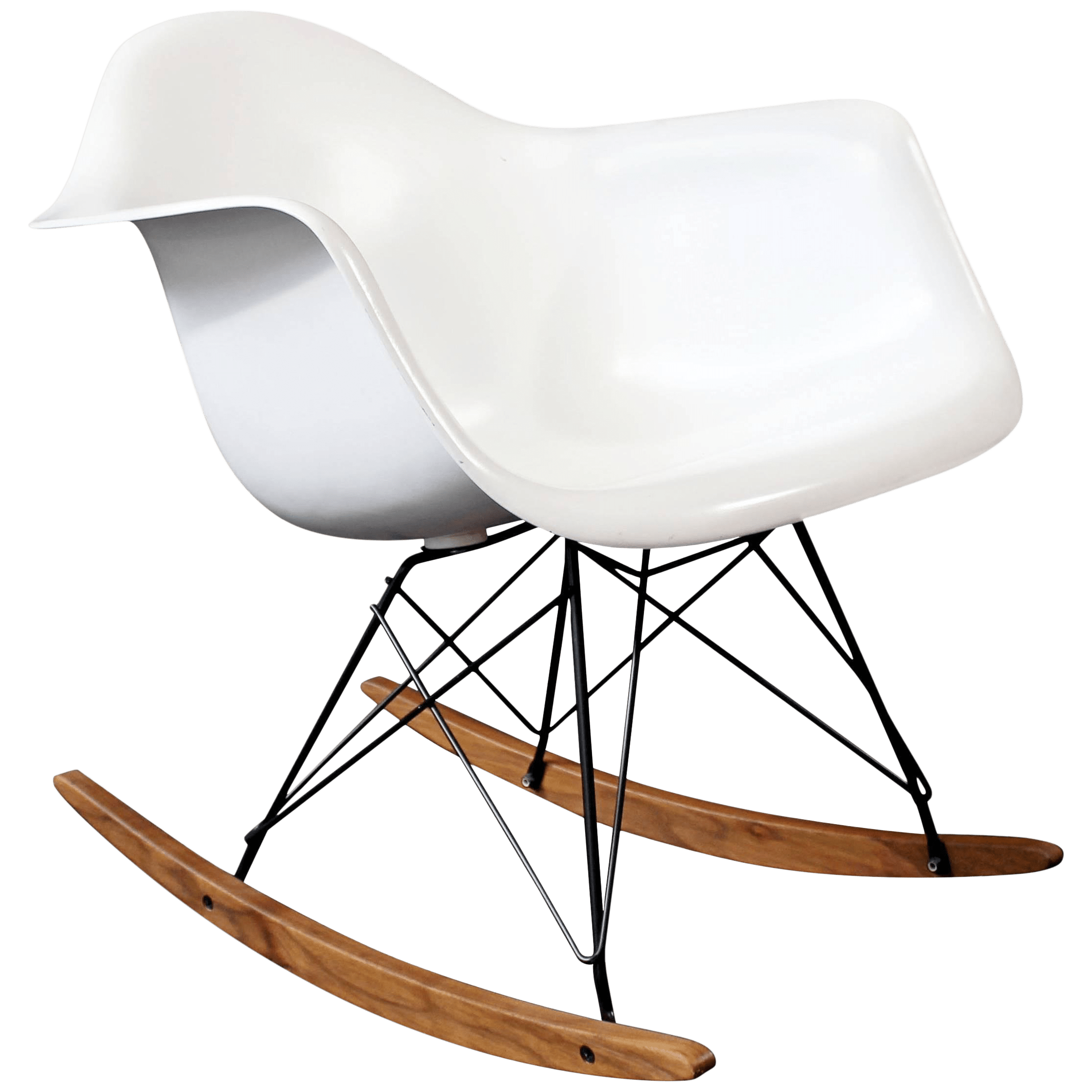 Vintage Eames Chair Mid Century Modern Vintage Eames Herman Miller Shell Rocker Rocking Chair 1970s