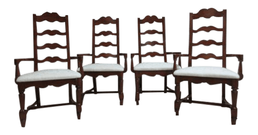 ladderback dining chairs svan high chair pennsylvania house cherry set of 4 chairish