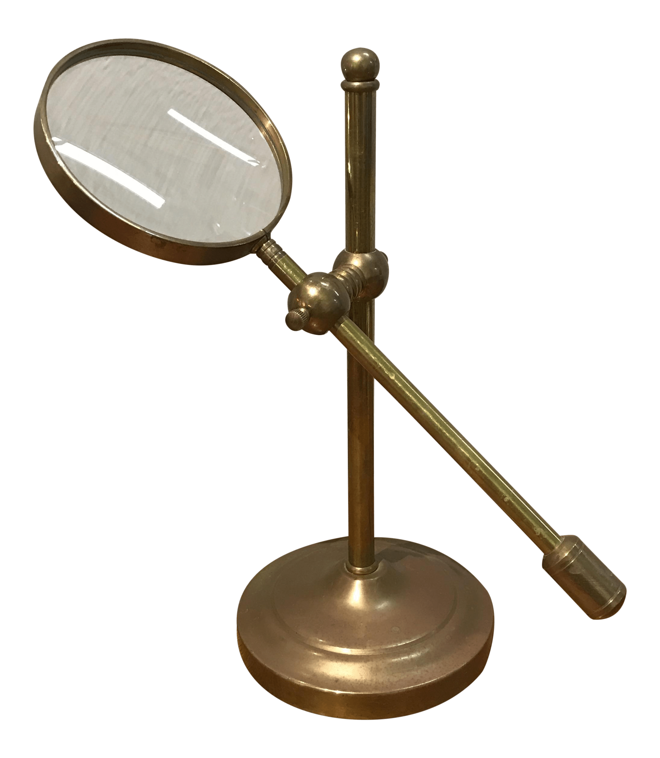 Vintage Brass Magnifying Glass Stand