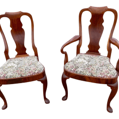 Pembrook Chair Corp Dining Room Covers Pinterest Gently Used Vintage Queen Anne Furniture For Sale At Chairish Style Chairs With Tapestry Upholstered Compass Seats A Pair