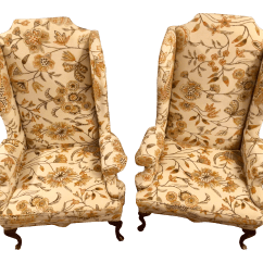 Ethan Allen Wingback Chairs Cane Barrel Back Chair A Pair Chairish For Sale