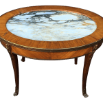 Antique Petit Gilt Bronze Louis Xvi Style Marble Top Oval Coffee Cocktail Table Chairish
