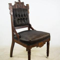 Eastlake Victorian Parlor Chairs Hyperextension Roman Chair Antique Black Slipper A Pair Chairish Transform Your Room Into Regal Domain With These 19th C
