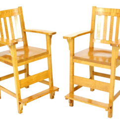 What Are Pool Chairs Made Out Of Adirondack Lovely Solid Brid S Eye Maple High Bar Stools Decaso For Sale