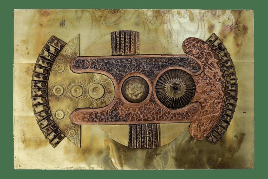 Brutalist Copper And Brass Wall Art Chairish | iltribuno.com
