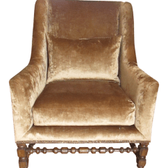 Crushed Velvet Chair Hanging Montreal Marge Carson And Metallic Leather Accent Side Chairish