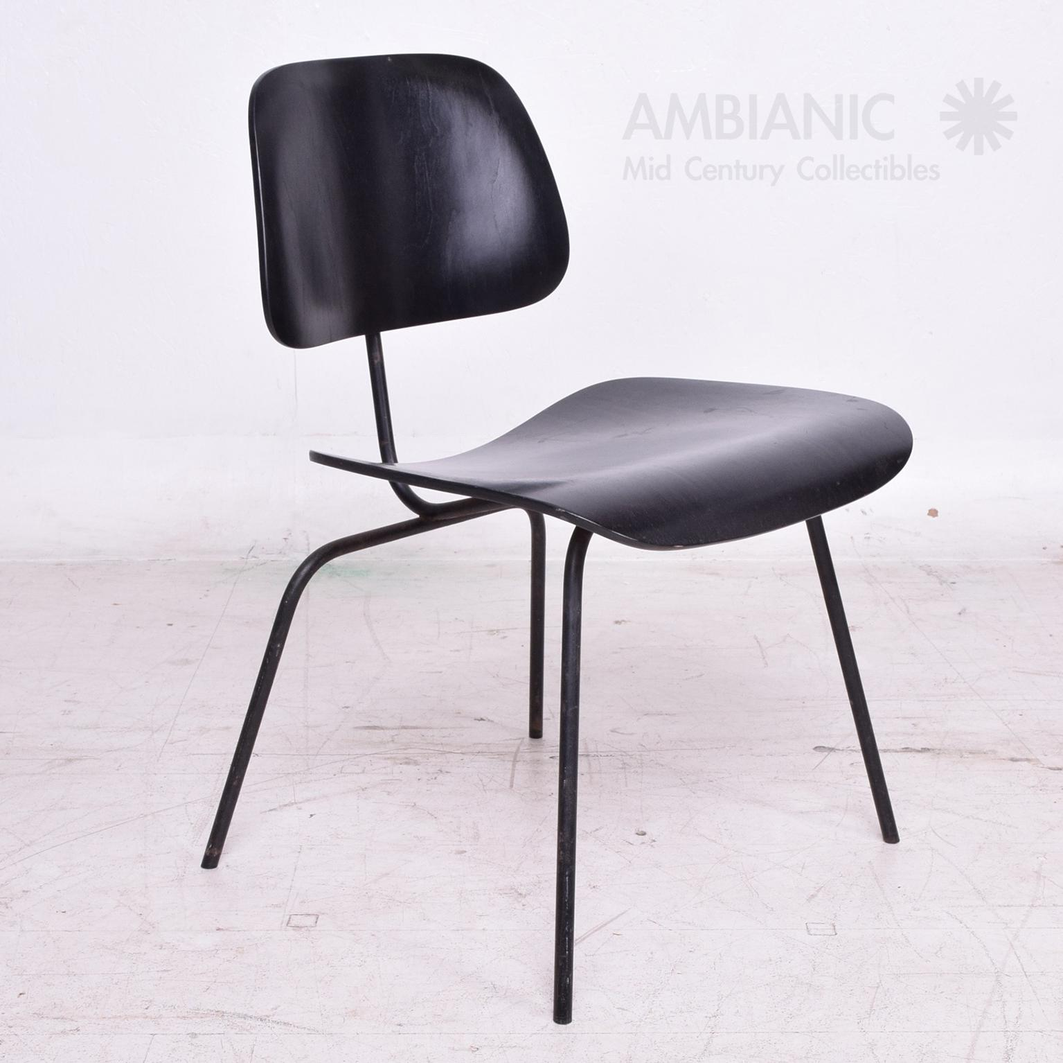 black eames chair cast iron patio chairs lovely mid century modern dcm in decaso for sale image 4 of