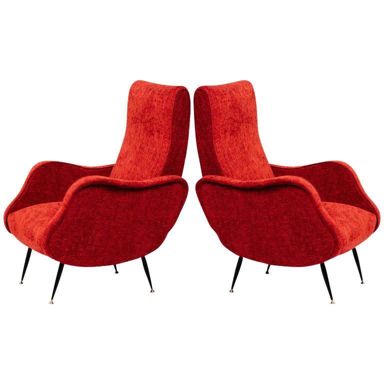 red chairs for sale graco high chair cover replacement uk superb pair of italian mid century modern club in vibrant woven
