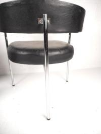 Mid-Century Modern Cassina Style Barrel Back Side Chairs ...