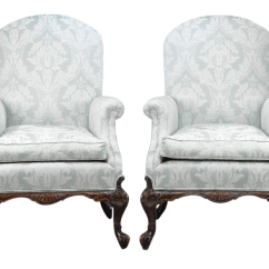 Bergere Chairs For Sale Tall Back Office Antique Designer Decaso George Ii Style Mahogany Armchairs A Pair