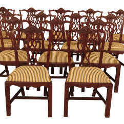 Chippendale Dining Chair 2 Wicker Chairs And Table Vintage Used Chairish Carved Mahogany Room Side Set Of 16