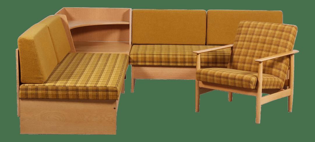 1970s swan corner sofa