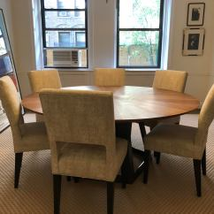 Cream Upholstered Dining Chairs Hanging Nest Chair Ikea Custom Modern Set Of 6 Chairish With Rectangle Cut Out In Back