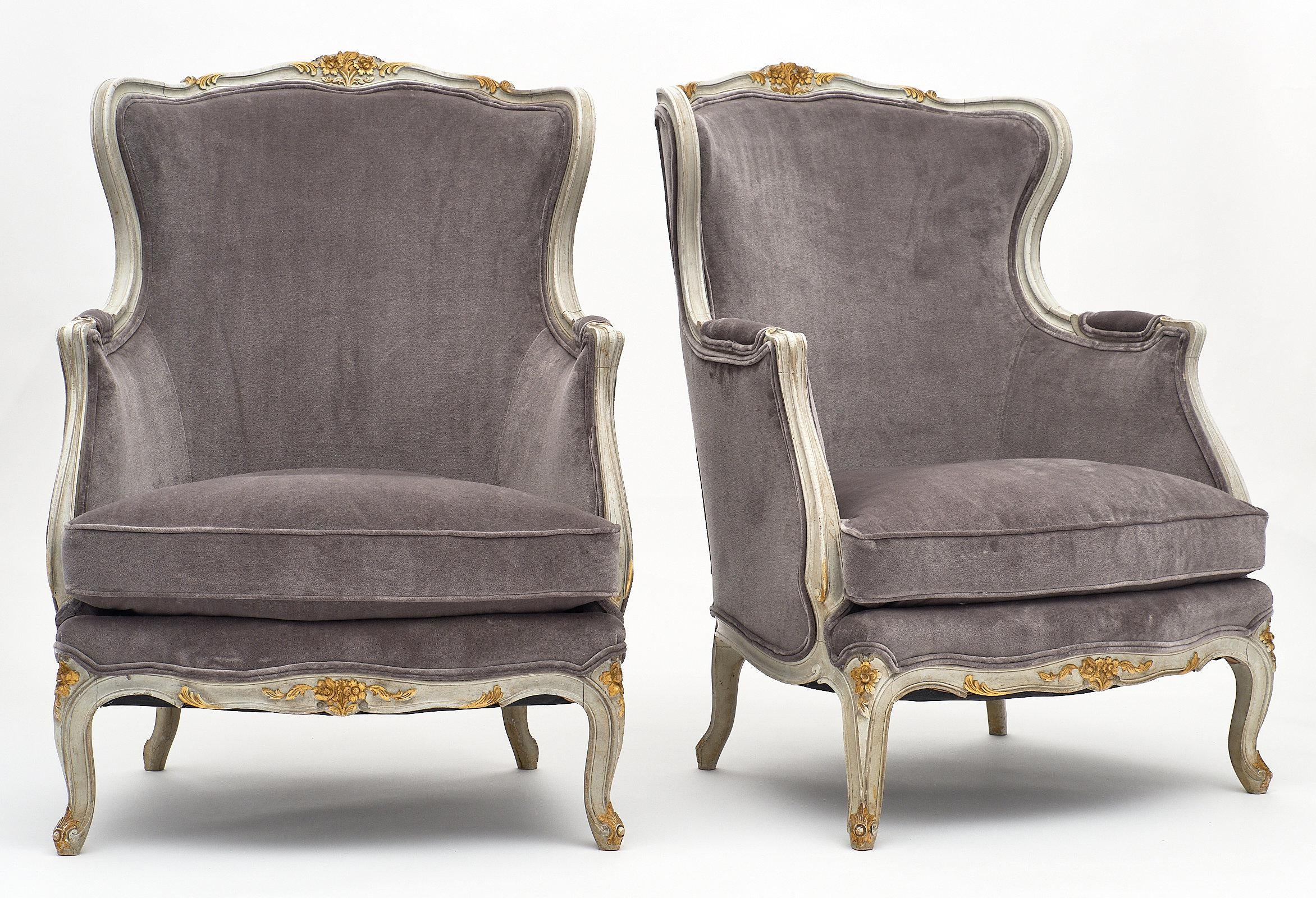 french bergere chair club chairs on casters incredible louis xv style a pair decaso for sale image 3 of