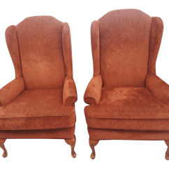 Wing Chairs On Sale Chair Design Glass Vintage Used Wingback For Chairish A Pair