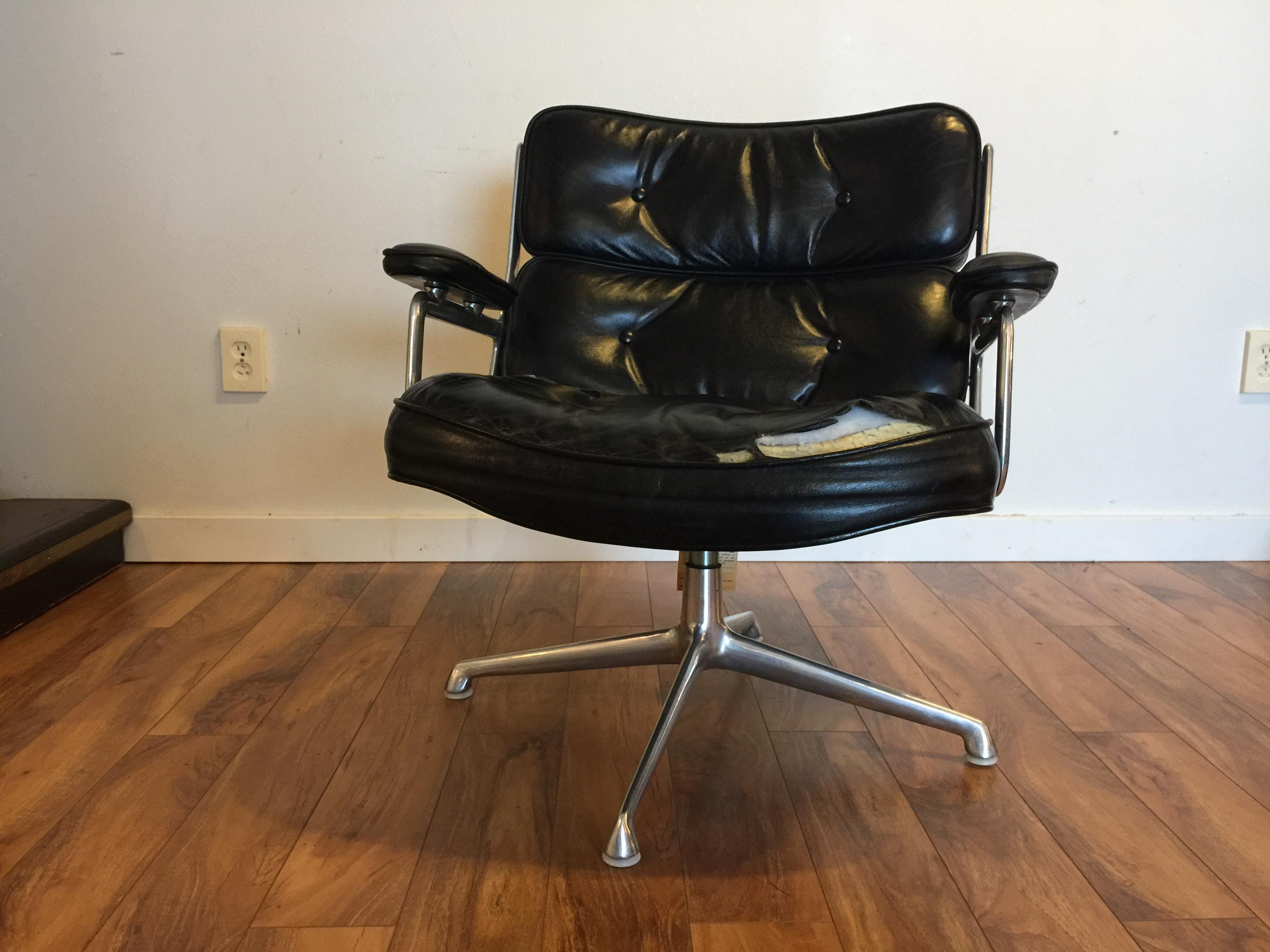herman miller chairs seattle lounge lizard quick dry chair cover vintage eames for time life leather executive sale in image