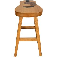 Guitar Shaped Chair Ball Reviews Handcrafted Inlaid Stool Exotic Woods By Darrin S Brown Millard For Sale