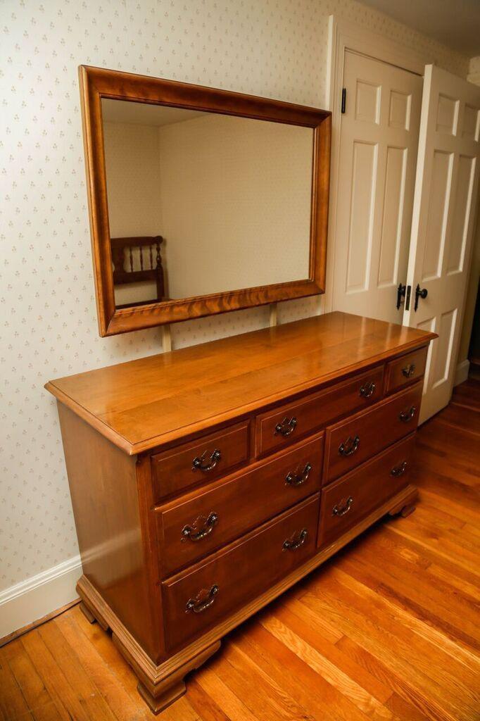 1960s Ethan Allen Maple Bedroom Dresser And Mirror A Pair Chairish