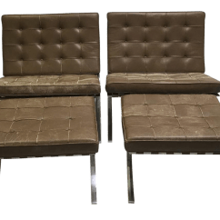 Barcelona Chairs For Sale Best Desk 2018 1960s Vintage Mies Van Dee Rohe Knoll Leather Ottomans 4 Pieces