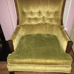French Velvet Chair Accessories To Improve Posture Vintage Mid Century Hollywood Regency Tufted Chairs A Pair For Sale Image