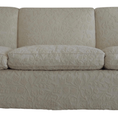 Pottery Barn Goose Down Sofa Fold Bed Ikea White Wool Upholstered Chairish