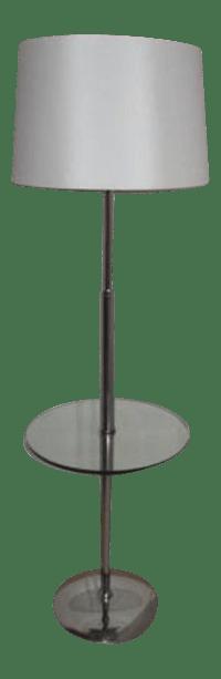 Vintage Modern Chrome & Glass Floor Lamp | Chairish