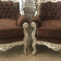 Baroque Bergre Style Chairs - A Pair | Chairish