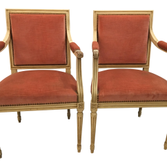 Hickory Chair Louis Xvi Director Covers World Market Vintage Used Side Chairs Chairish Style Arm In Pink Velvet A Pair