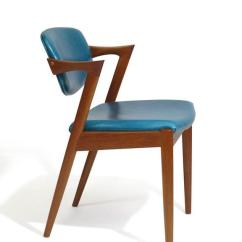 Danish Dining Chair Ruffled Cushion Covers Lovely Six Kai Kristiansen Teak Chairs In Turquoise Animal Skin Leather 20 Available For