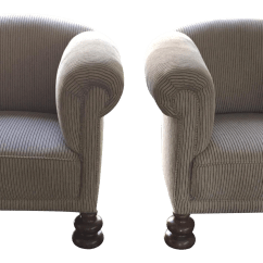 Art Deco Style Club Chairs Wheelchair Swing Pair Chairish For Sale