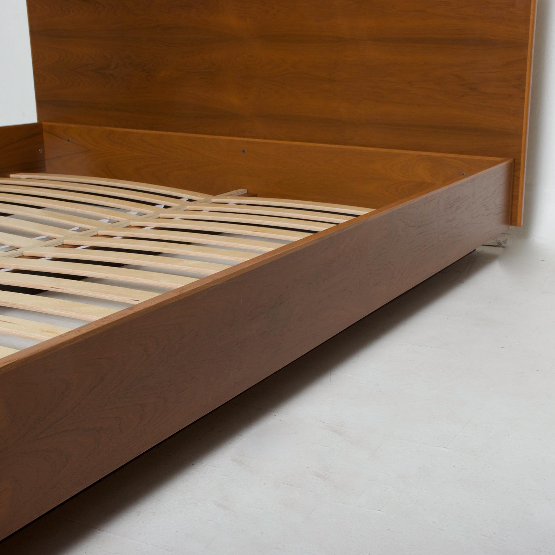 modern teak platform bed frame queen size danish mid century modern inspired