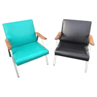 Mid-Century Modern Low Profile Chairs - a Pair | Chairish