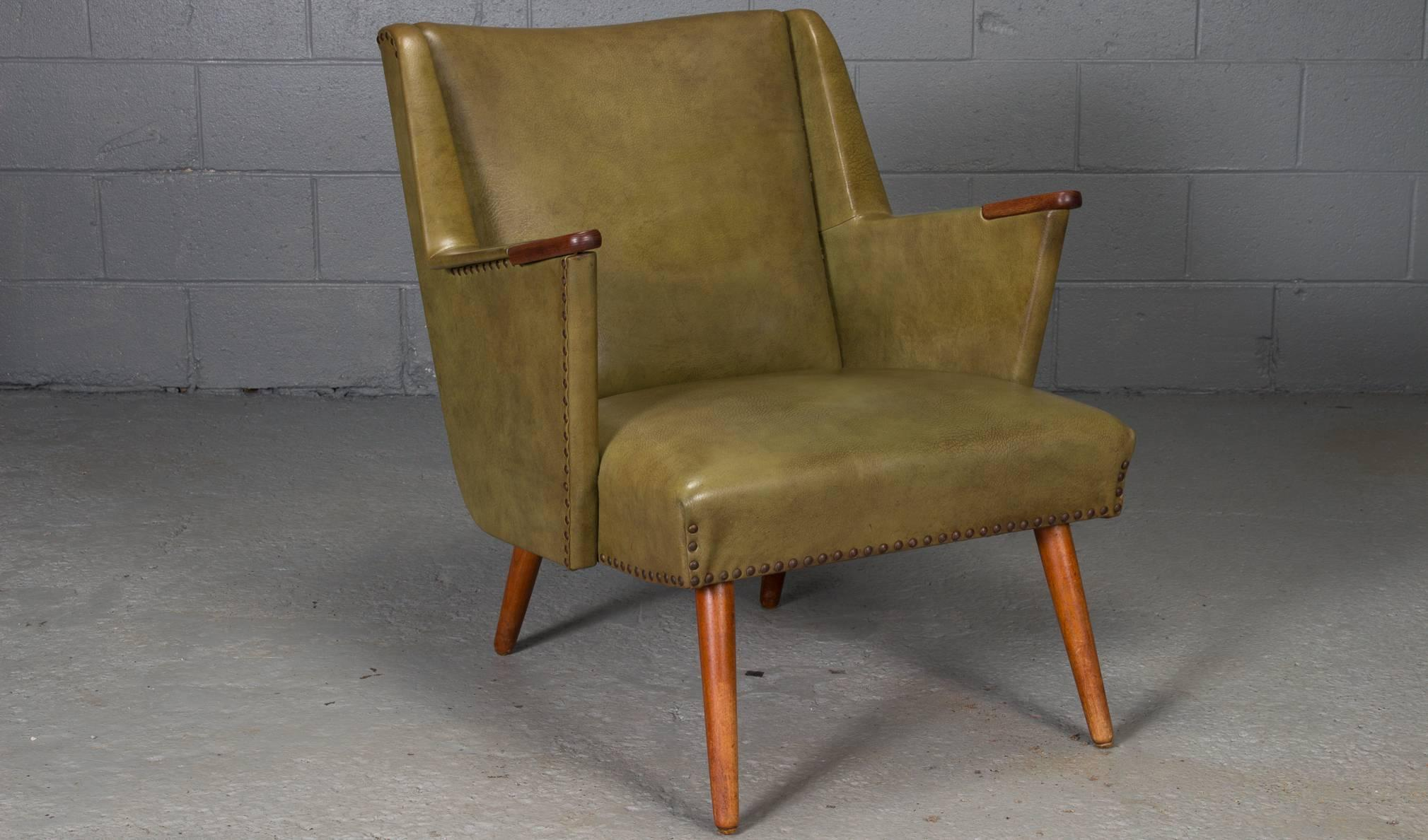 low back lawn chair 9 swing for garden exquisite danish modern lounge easy decaso mid century sale image 3