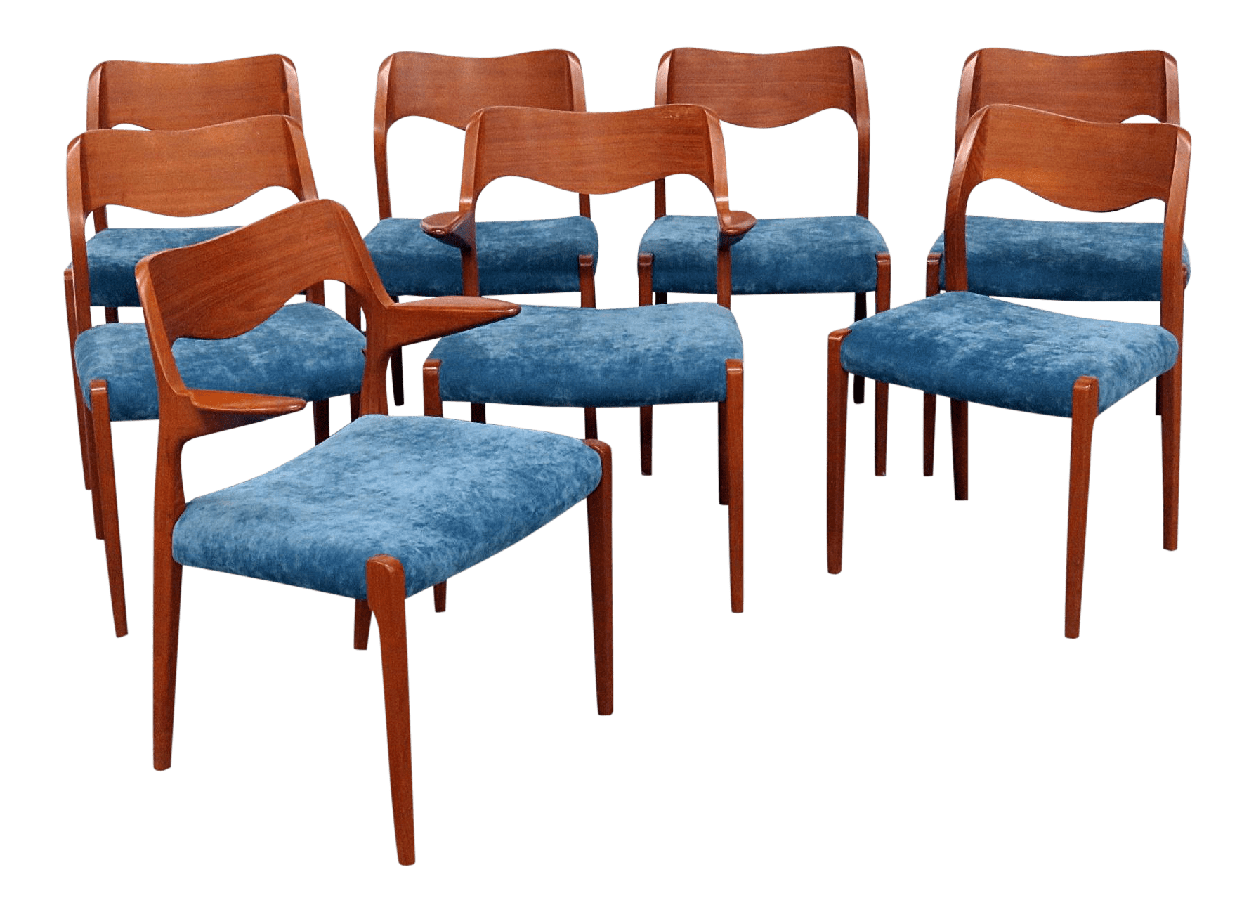 danish modern dining chair hanging ikea vintage mid century moller style teak chairs set of 8 for sale