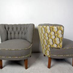 Modern Slipper Chair Yoga Ball Contemporary Chairs A Pair Chairish For Sale Image 3 Of 11