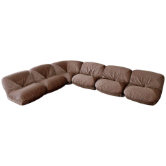 70s Sofa You Love Woodland Hills Luxury Mid Century Modern Airborne Patate 6 Piece Sectional Velvet French For Sale