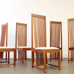 Adirondack Style Dining Chairs Outdoor Wicker Swing Chair Frank Lloyd Wright Cherry Wood Room Table And Set For Sale