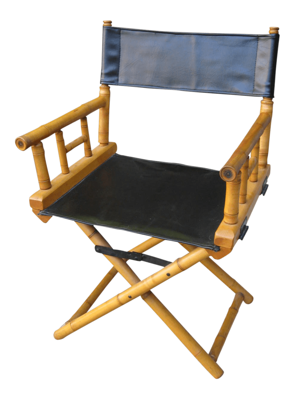 leather directors chair nichols and stone windsor 1960s vintage bamboo folding director s chairish