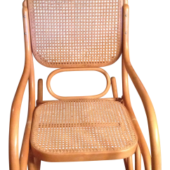 Rocking Chair Cane Heating Pad Mid Century Modern Natural Beech Wood Bentwood And For Sale