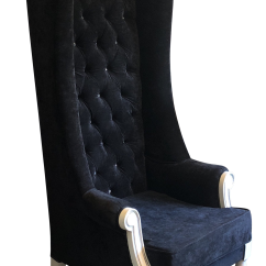 High Backed Throne Chair Ergonomic Desk Chairs 1980s Modern Back Black Tufted Chairish For Sale