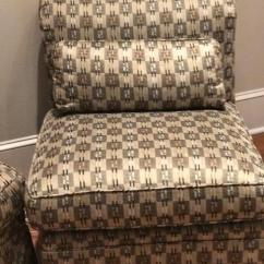 Slipcover For Armless Chair Reclining And Ottoman Custom Chairs A Pair Chairish Modern Sale Image 3 Of 11