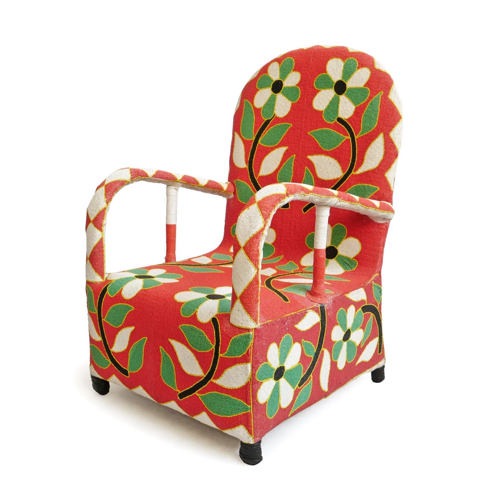 swivel chair nigeria ergonomic rental yoruba nigerian beaded chief chairish for sale image 4 of 10