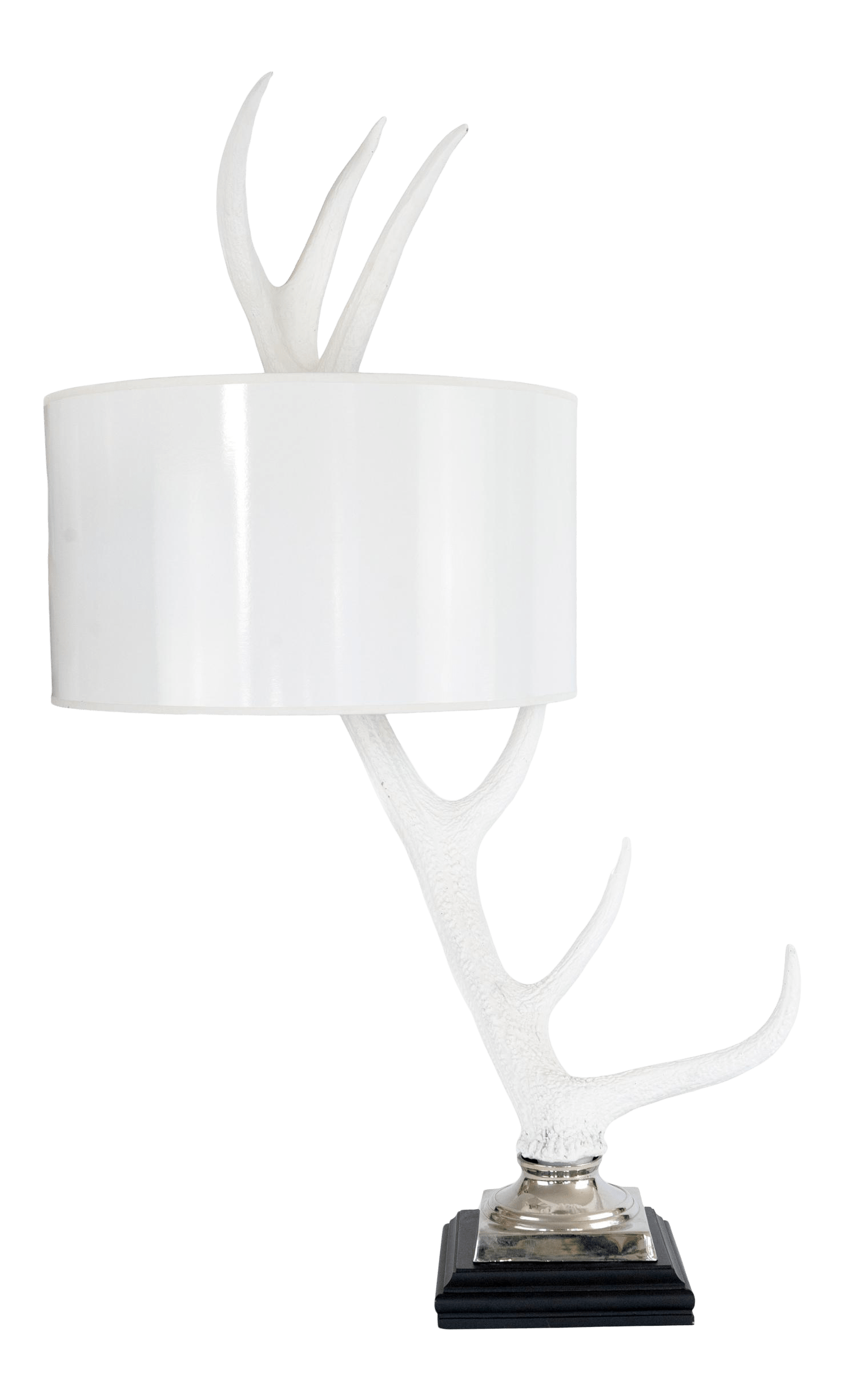barbara cosgrove white resin antler lamp with white lacquer shade